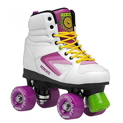 Roces 550041 Model Kolossal Roller Skate, US 3M/5W, White/Purple/Yellow by Roces