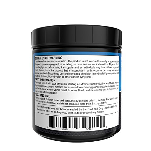 XTREME BLAST Powerful Pre Workout- Strength Power and Energy- WaterMelon Flavor