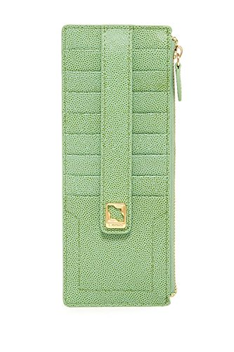 Lodis Seville Credit Card Case with Zipper Pocket, Lime