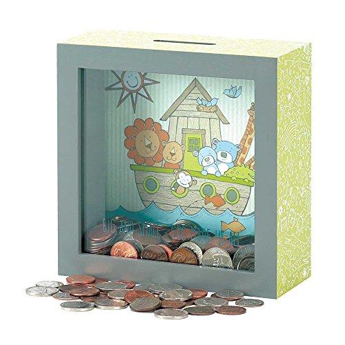Dicksons Noah's Ark See-Through Coin Bank, Multicolor ()