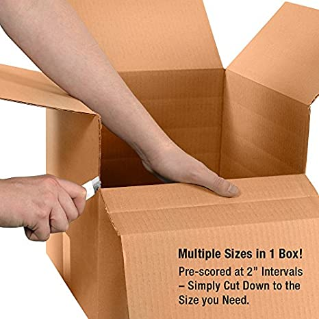 BFHD241616DW Boxes Fast 24 x 16 x 16 Double Wall Corrugated Heavy-Duty Cardboard Boxes Packing Kraft Moving and Storage Pack of 10 for Shipping