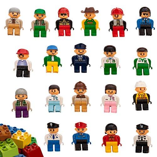 Smart Builder Toys Family & Community Figures Duplo Compatible, Set of 20