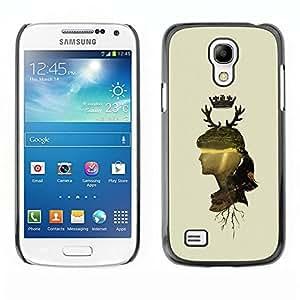 Be Good Phone Accessory // Dura Cáscara cubierta Protectora Caso Carcasa Funda de Protección para Samsung Galaxy S4 Mini i9190 MINI VERSION! // Woman Profile Portrait Nature Crown Ho