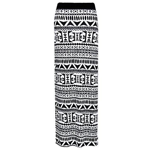 Jupe d't Imprim NEW Jersey robe Maxi taille Gypsy moulante Clothing Desire 8C26 Aztque ZBBtwqg