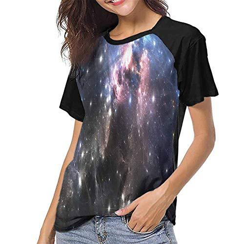 Female Tops,Constellation,Vivid Supernova S-XXL Women's Short Sleeve Tops