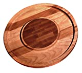 Ironwood Gourmet, Acacia Wood, 12-inch by 12-inch by .75-inch Cheese and Cracker Board