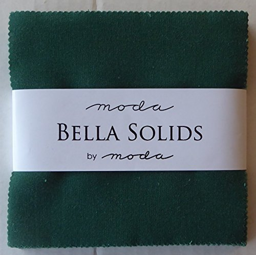 Charm Christmas Green (Bella Solids Christmas Green Moda Charm Pack By Moda ; 42 - 5