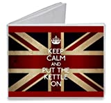 Keep Calm and Put the Kettle On UK British Flag - Paper Tyvek Wallet