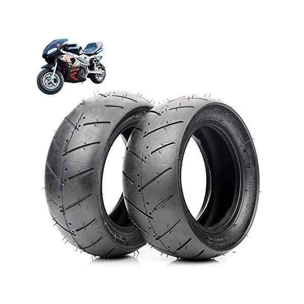 MJJ Pneus de Scooter électrique, pneus à Vide 90/65-6.5/110 / 50-6.5, résistants à l'usure et antidérapants, adaptés aux…