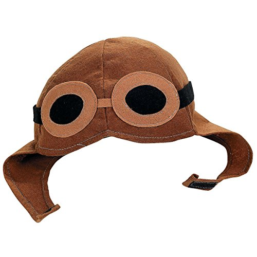 Fun Express Felt Aviator Hat Costume Accessory with Goggles Design
