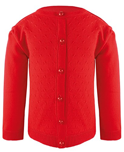 De Poupee Baby Girls' Knit Cardigan Sweater 3-6 Months Red-