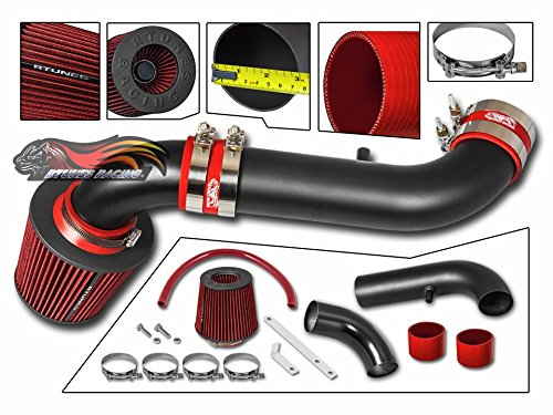 - Velocity Concepts MATT BLACK Short Ram Air Intake Kit + RED 00-02 Dodge Dakota Durango All Models with 4.7L V8