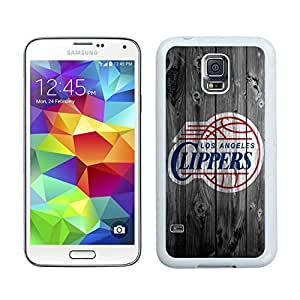 New Custom Design Cover Case For Samsung Galaxy S5 I9600 G900a G900v G900p G900t G900w L.A. Clippers 1 White Phone Case