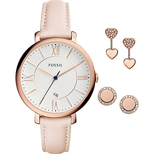 Fossil-Jacqueline-3-Hand-Leather-Watch-Set