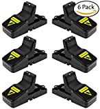 Acerich Mouse/Rats Trap, Rats/Mice Trap That Work Humane Power Rodent Killer 100% Mouse Catcher [Quick & Effective & Sanitary] Safe for Families and Pet - 6 Pack