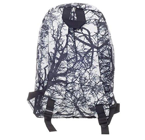 SHFANG Double Schulter Rucksack Student Schultasche Druck Wald (senden Sie eine kleine Schultasche) Unisex Tourismus 42 * 27cm