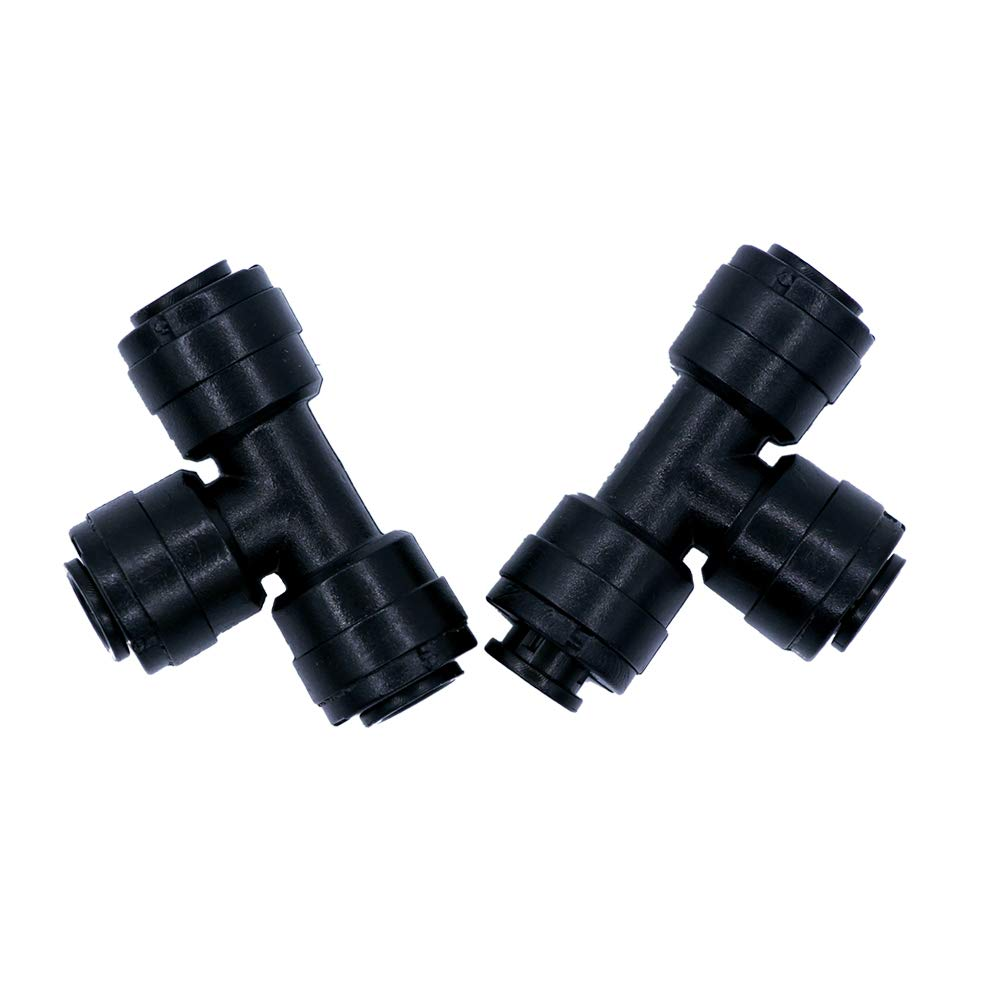 """VircleK 1/4"""" Slip-Lok Misting Nozzle Tees 3 Way Tube Quick Connector, Suitable for 1/4"""" Pipe, Pack of 10 pcs"""