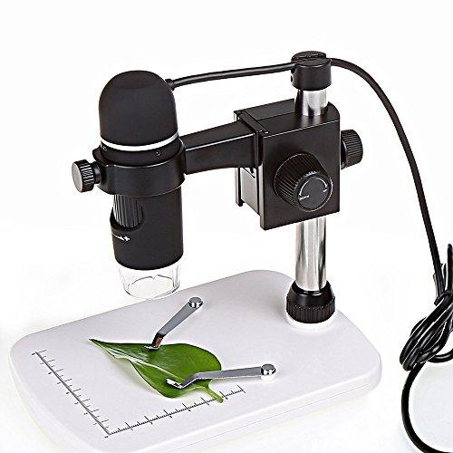 EchoAcc® 5MP USB Digital Mikroskop-Videomikroskop 20 - 300X Lupe Kamera mit 8 LED, Standfuß, Software für Windows XP / Vista / Win7 / Mac OS X