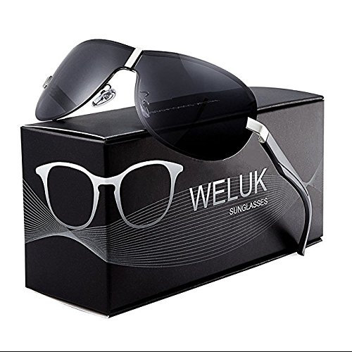 WELUK Aviator Sunglasses for Men Polarized Military Pilot Sun Glasses Shades UV400 Protection
