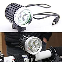 KLY - 3X CREE XM-L T6 LED Front Bicycle Head Lamp Bike Light Headlamp Headlight 4000LM