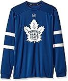NHL Toronto Maple Leafs Mens Silver L/s jersey Teesilver L/s jersey Tee, Dark Blue, Medium