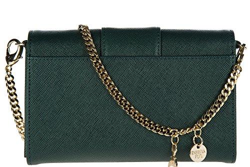 Patrizia Pepe Pochette Handtasche Damen Tasche Leder Clutch Bag mit Schulterriem