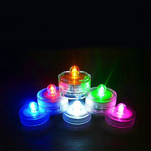 LED Lights Waterproof Wedding Underwater Battery Sub LED Lights in Mixed color (Pack of 24)