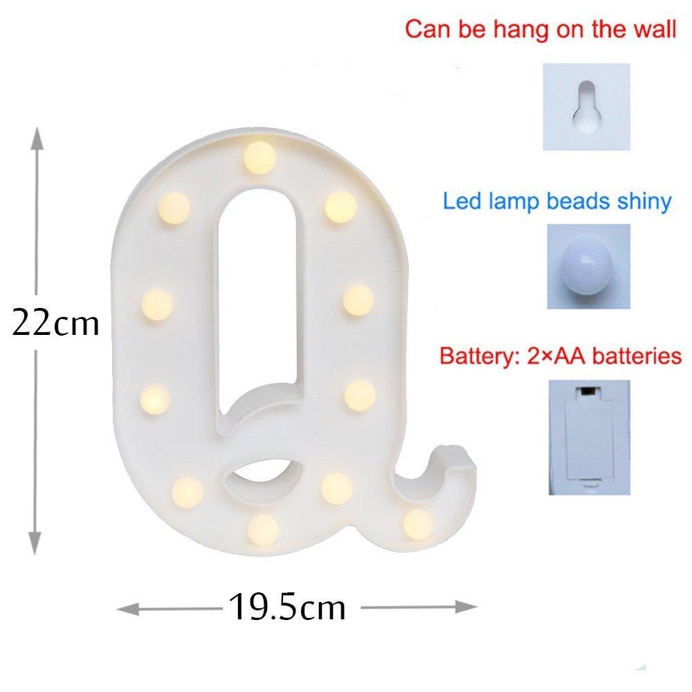 /& Missley Letras del LED letras blancas del alfabeto LED decorativo para la decoraci/ón de la boda del partido
