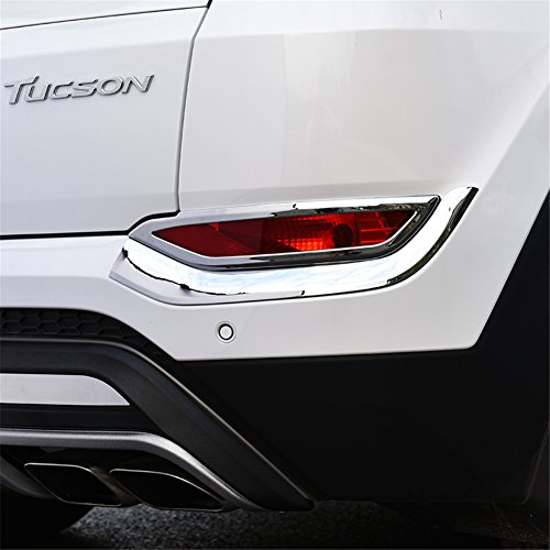 KUST hwd39618w Car Rear Fog Light Frame Molding Cover Trim,Pack of 4 Piece ABS Plating Material Chrome Trims Fit for 2015 Tucson Hyundai