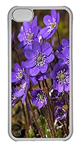 Lovely The Beautiful Purple FlowerCases For iPhone 5c - Unique Cool Hard Transparent Mobile Phone Protecting Shell