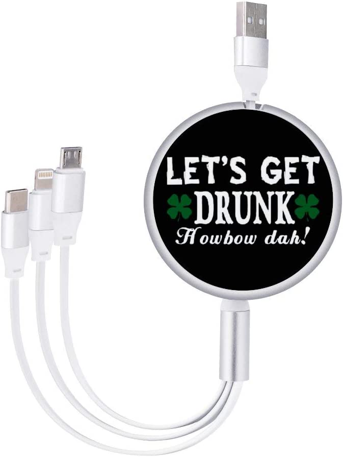 Circular Data Line Lets Get Drunk3 Beautiful and Multifunctional Mobile Phone Data Cable 5.65.62.2cm