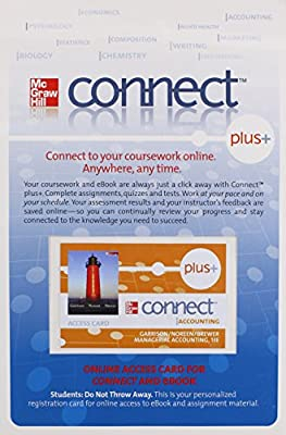 Connect PLUS card to accompany Managerial Accounting 13e