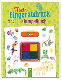 Mein Fingerabdruck Stempelbuch Tiere 9783849910136 Amazon Com Books