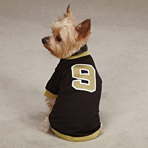 XX-Small #9 Drew Brees Dog Jersey New Orleans Saints NBA Pet Puppy Mesh T Shirt Clothes Apparel