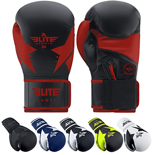 Elite Sports Star Boxing, Kickboxing, Muay Thai Gel Sparring Training Gloves