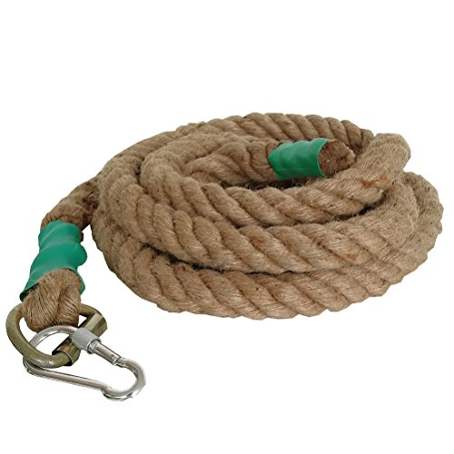 Aoneky Gym Climbing Ropes (Brown, 1.5'' x 20 ft) by Aoneky