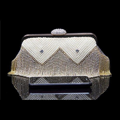 Lovely Decoration Purse Bridal Drill Evening Tassel Women Rabbit Handbag Clutch Party Bag Rhinestone rYqZr7
