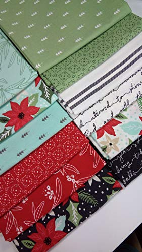 Christmas Fat Quarter Bundle - Little Tree Lella Boutique Vanessa Goertzen Modern Christmas Fabric Moda Fabrics ~ 12 Fat Quarters Bundle ~ 3 Yards
