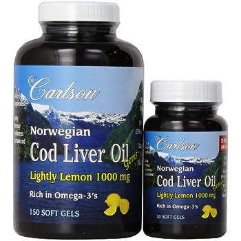 Carlson cod liver oil gems super 1 000 360 for Carlson fish oil amazon