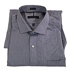 Tommy Hilfiger Mens Button down Dress Shirt, Long Sleeve, Blue, 17-17 1/2, 36-37