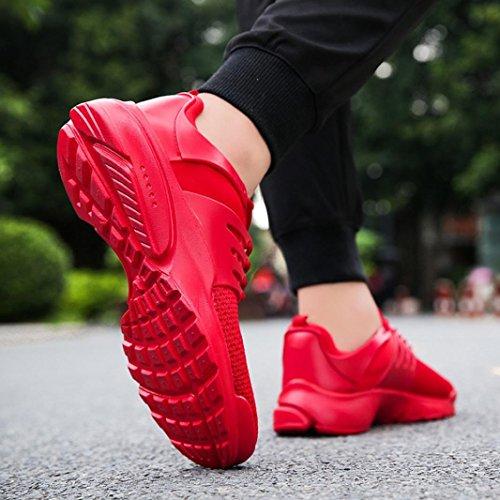 Scarpe Sportive Uomo Uomo Ginnastica Corsa Challenge da Allacciare da Scarpe Traspiranti da Sll'aperto Unisex da Rosso Scarpe Scarpe Tela Scarpe Sneakers Basse di wOxCCtqf