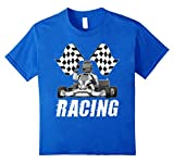 unisex-child Go Karting T Shirt Go-Karting Tee Go Kart Racing T-Shirt 6 Royal Blue