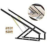 Happybuy Pair 4FT Pneumatic Storage Bed Lift Mechanism Heavy Duty Gas Spring Bed Storage Lift Kit Box Bed Sofa Storage Space Saving DIY Project Lifter Lift up Hardware Black (B120)