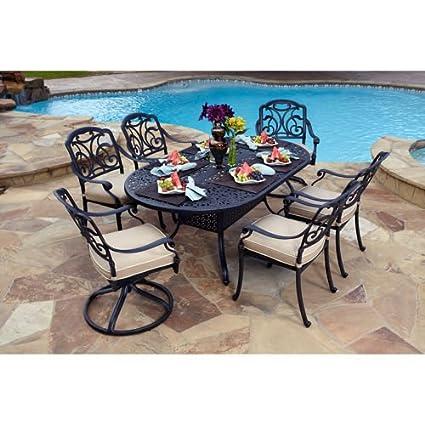 amazon com san paulo 7 piece patio dining set sports outdoors rh amazon com Italian Patio Furniture Patio Lanai Furniture