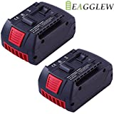 Eagglew 2 pack 18V 4.0Ah Lithium-ion Replacement Battery for Bosch BAT619G-2P BAT621 BAT622 BAT612-2PK BAT620-2PK Cordless Drill