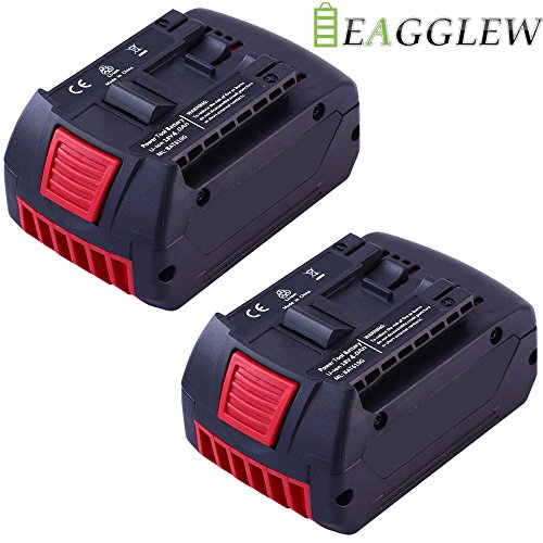 Eagglew 2 pack 18V 4.0Ah Lithium-ion Replacement Battery for Bosch BAT619G-2P BAT621 BAT622 BAT612-2PK BAT620-2PK Cordless Drill by Eagglew