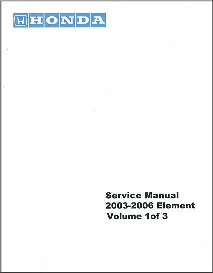 amazon com bishko automotive literature 2003 2004 2005 2006 honda rh amazon com Honda Element Parts Manual 2004 Honda Element