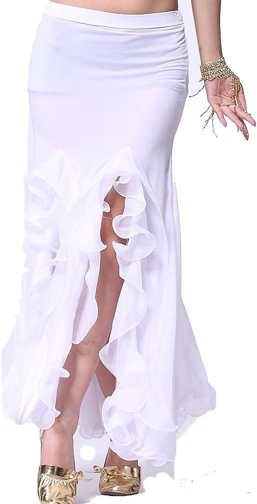 ZLTdream Womens Belly Dance Milk Silk Curling Skirt