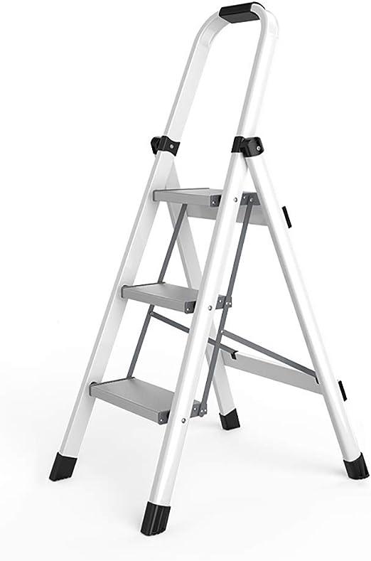 ZXL escaleras Plegables de 3 peldaños para el hogar, Equipo de Herramientas de Taburete Ligero con empuñadura de Mano, escalones de Plataforma Anchos: Amazon.es: Juguetes y juegos