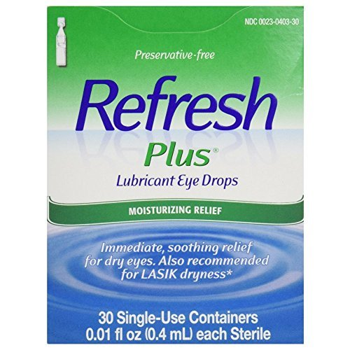 Refresh Plus Lubricant Eye Drops Single-Use Containers 30 EA - Buy Packs and SAVE (Pack of 4)